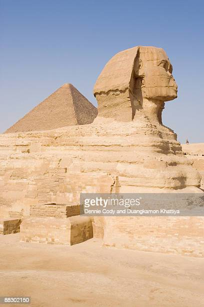 Sphinx with the Great Pyramid