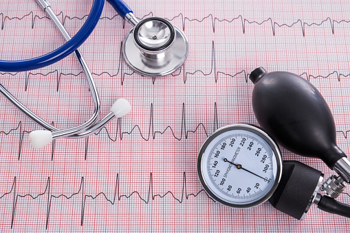 Sphygmomanometer and stethoscope with Electrocardiogram paper 860043972