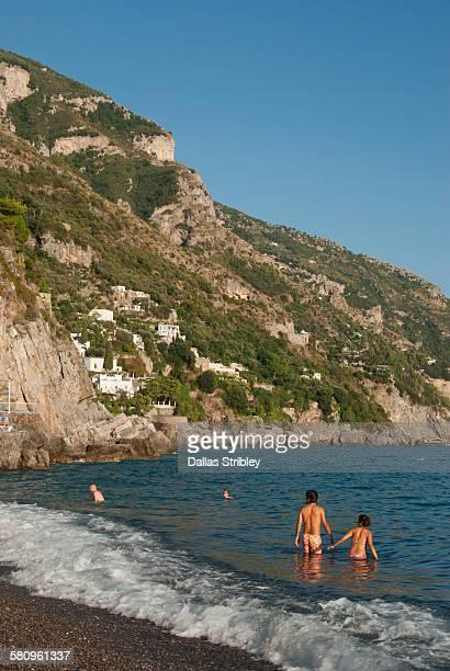 Spiaggia Grande (main beach) in Positano