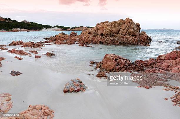 Spiaggia Rosa («plage rose de Budelli Island») Parc National de La Maddalena