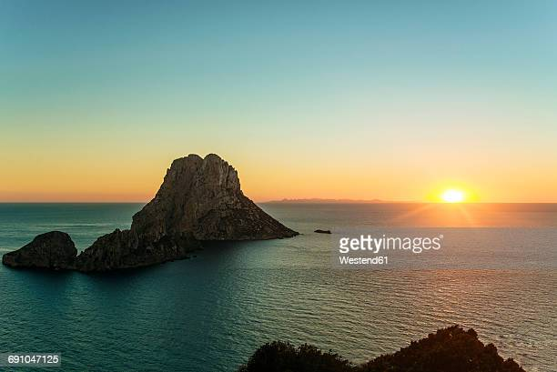 Spian , Ibiza, Es Vedra Island at sunset