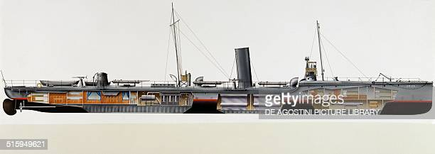 Spica torpedo boat Italy drawing