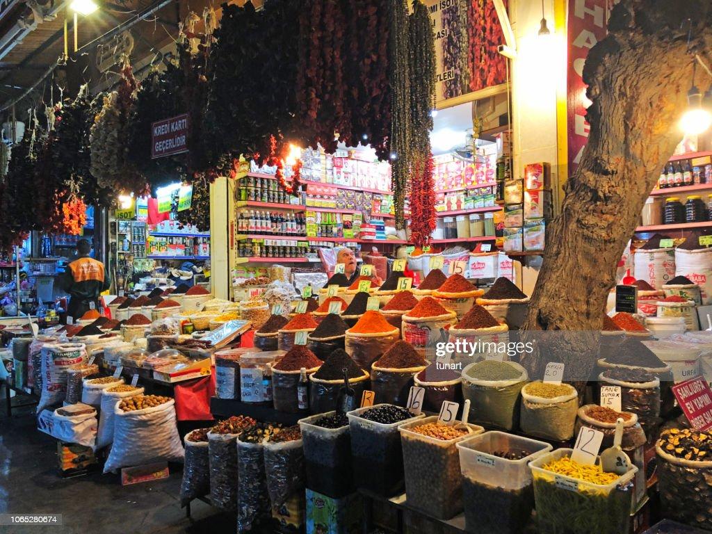 Spice Bazaar in Eyyubiye, Sanliurfa, Turkey : Stock Photo
