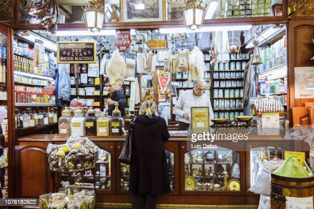 spice bazaar store - dafos stock photos and pictures