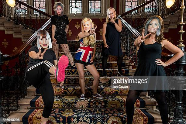 Spice Girl fans celebrate ahead of the 20 year anniversary of the 'Wannabe' single release at St Pancras Renaissance Hotel on June 30 2016 in London...