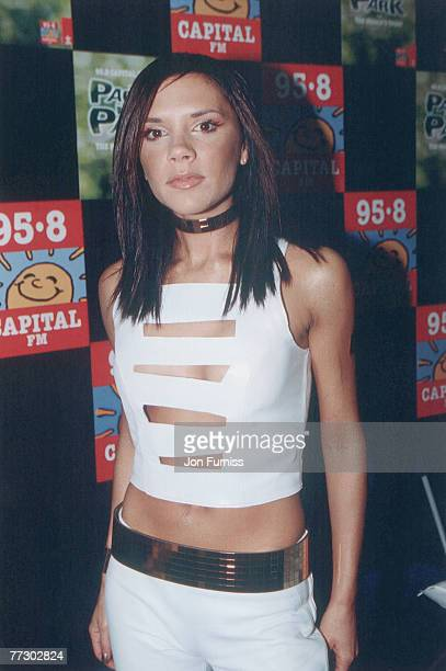 Spice Girl Victoria Beckham at Party in the Park Hyde Park London 9th July 2000