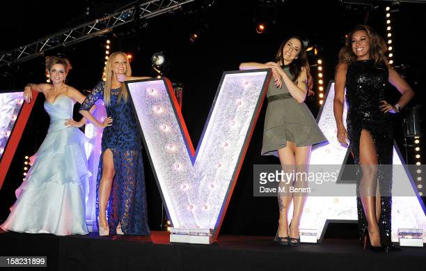 Spice Girls Geri Halliwell Emma Bunton Melanie Chisholm and Melanie Brown attend an after party celebrating the Gala Press Night performance of 'Viva...