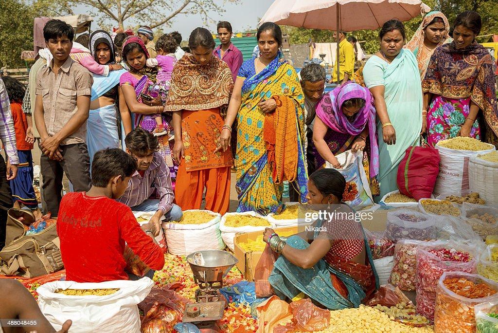 spice markets in Delhi, India : Stock Photo