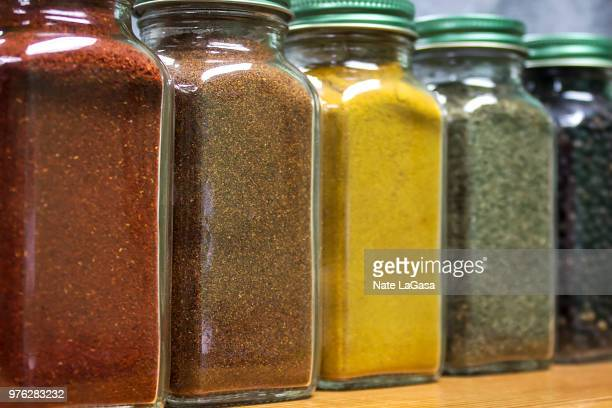 spice - cruet stock photos and pictures