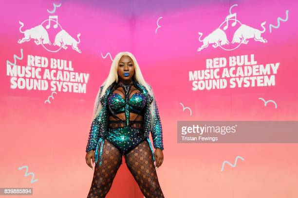 Spice poses at the 'Red Bull Music Academy Soundsystem' at Notting Hill Carnival 2017 on August 27 2017 in London England