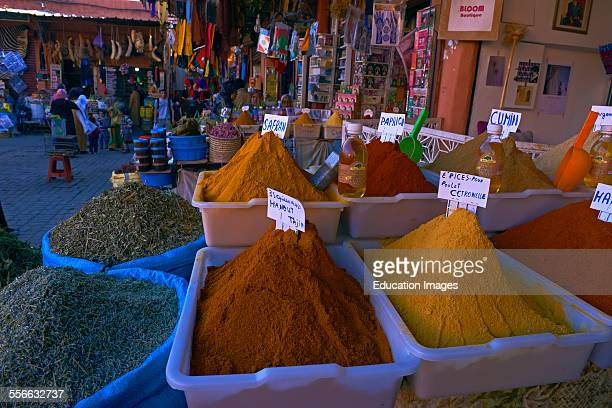 Spice Shop Grocery Rahba Kedima Square Place des epices Medina Marrakech UNESCO World Heritage Site Morocco Maghreb North Africa