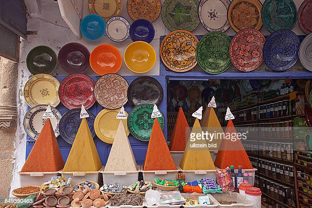 Spice shop in the old town of Essaouira Morocco