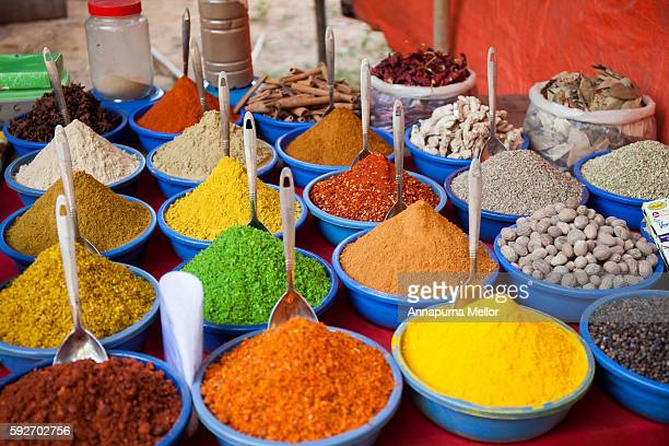 Spices at Anjuna Flea Market, Goa, India