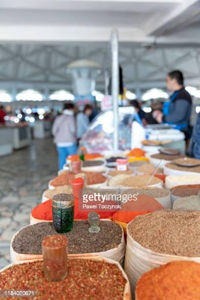spices at the chorsu bazaar market, tashkent, uzbekistan - dictator stock pictures, royalty-free photos & images