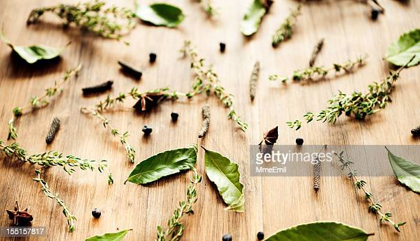 spices background - juniper tree stock pictures, royalty-free photos & images