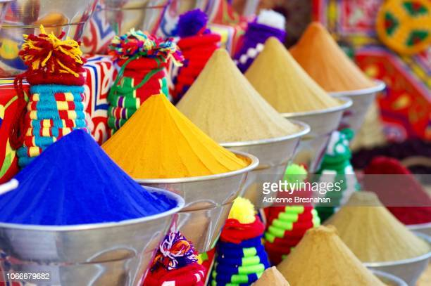 spices for sale at nubian village - souk stock pictures, royalty-free photos & images