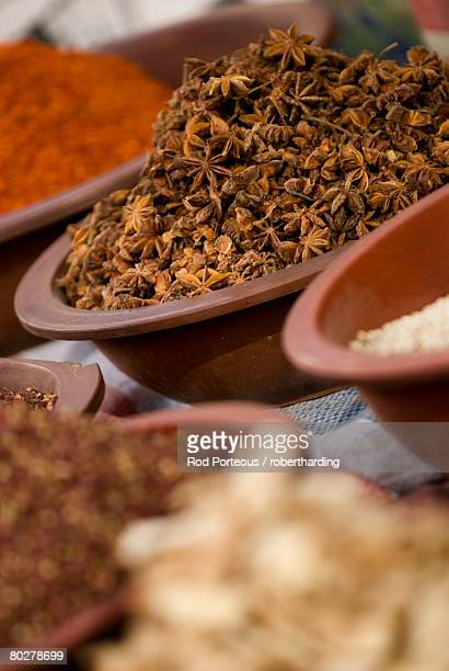 Spices for sale, Dunhuang, Gansu, China, Asia