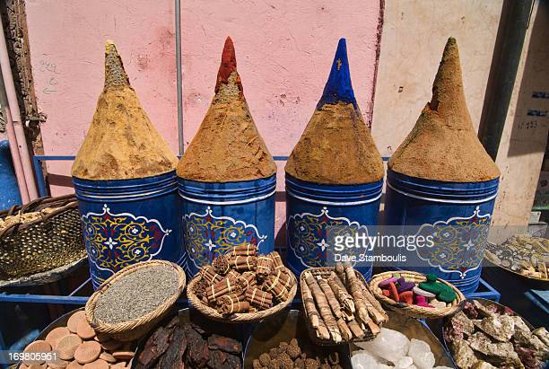 CONTENT] spices for sale in the ancient medina in Marrakech Morocco