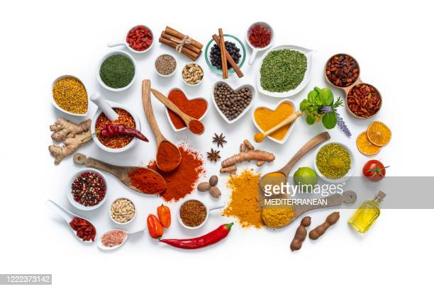 spices herbs condiments seasoning isolated on white - anise stock pictures, royalty-free photos & images