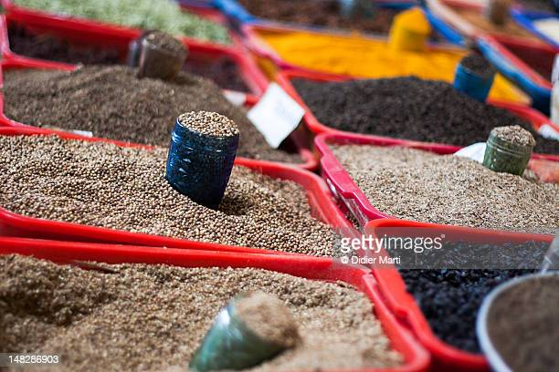 spices in a tashkent market - didier marti stock photos and pictures