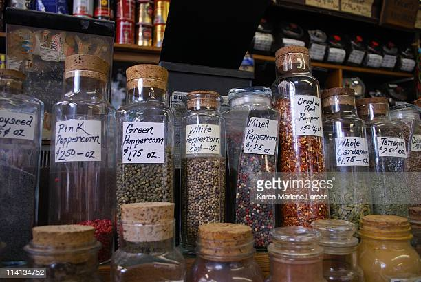 spices in jars - karen price stock pictures, royalty-free photos & images