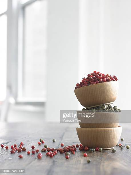 Spices in stacked bowls