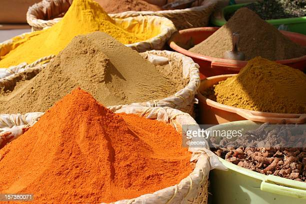 spices - tunisian souk #2 - djerba stock pictures, royalty-free photos & images