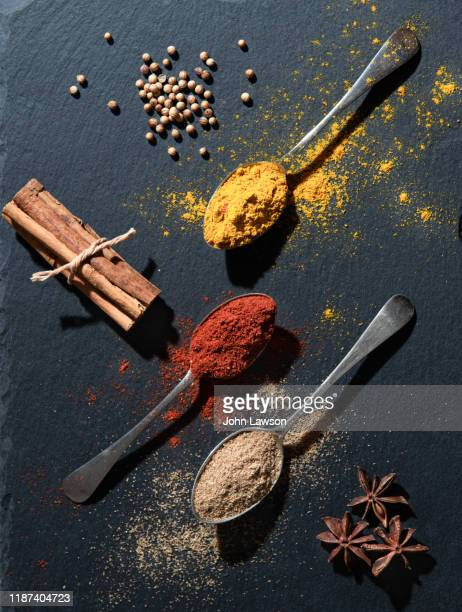 spices used in asian cookery - spice stock pictures, royalty-free photos & images
