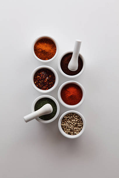 Spices With Mortars And Pestles Wall Art