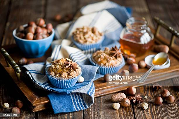 spicy apple muffins - anna verdina stock photos and pictures