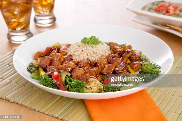 スパイシーチキン炒め - 白梗菜 ストックフォトと画像