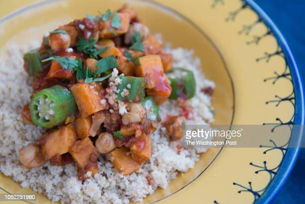 Spicy Chickpea and Sweet Potato Stew is pictured