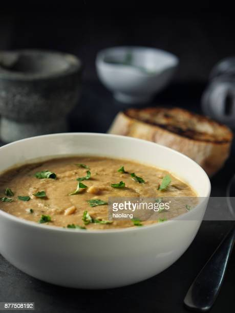 Spicy chickpea lentils soup