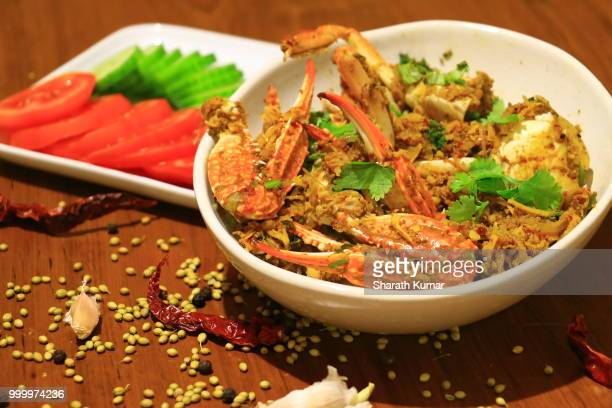 spicy crab curry with coconut - coconut crab stock pictures, royalty-free photos & images