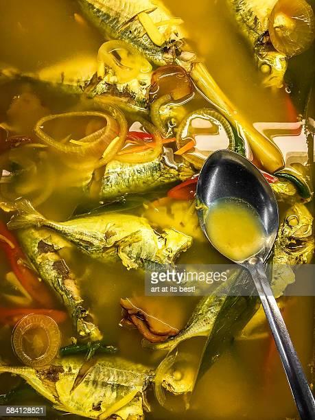 Spicy fish broth