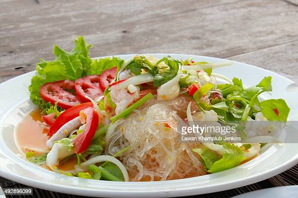 Spicy glass noodle salad