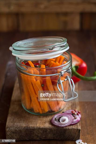 Spicy homemade carrot pickles