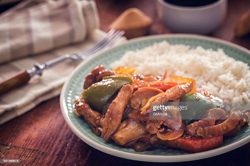 Würzige Kung Pao Chicken : Stock-Foto