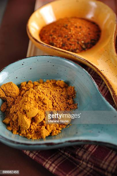 Spicy Pepper and Curry Powder on Scoop