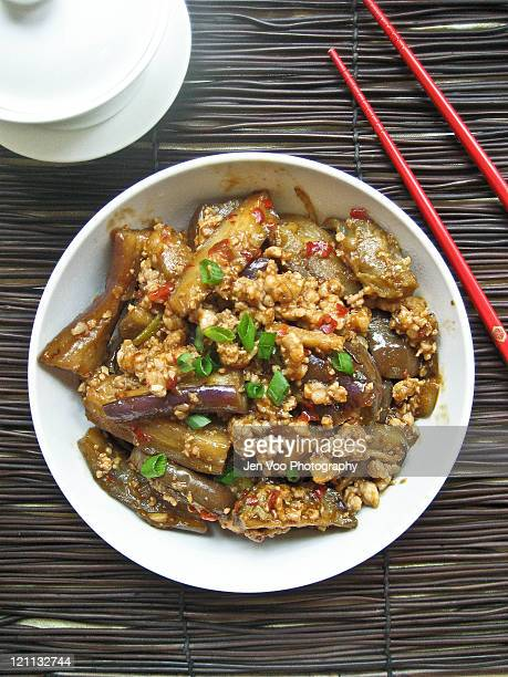 Spicy szechuan fish fragrant eggplant