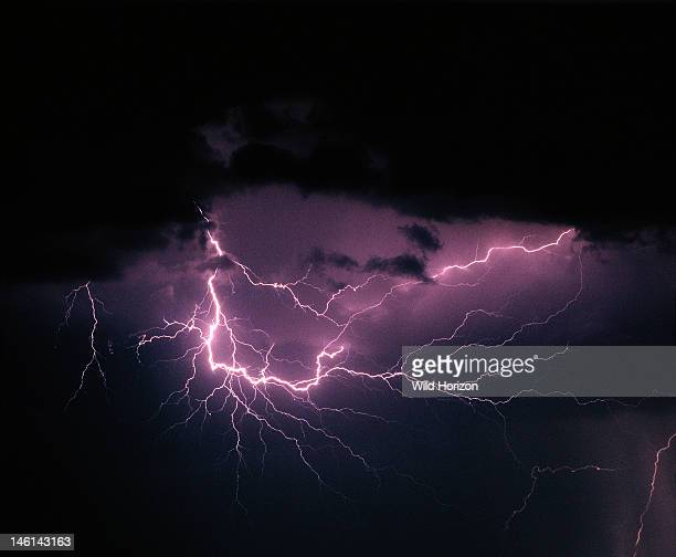 Spider lightning a form of air discharge lightning with extraordinary branching Tucson Arizona USA