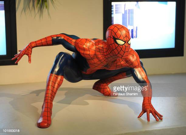 Spider Man new attraction at Madame Tussauds of Marvel Super Heroes at Madame Tussauds on June 2, 2010 in London, England.