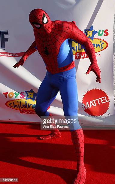 Spiderman arrives for the 11th annual Children Affected by AIDS Dream Halloween fundraiser on October 30 in Santa Monica California