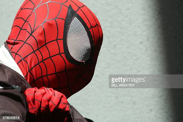 Spiderman at ComicCon International 2016 in San Diego California on July 21 2016 / AFP / Bill Wechter