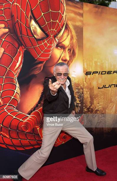 SpiderMan creator Stan Lee attends the premiere of the Sony film 'SpiderMan 2' on June 22 2004 at the Mann Village Theater in Westwood California