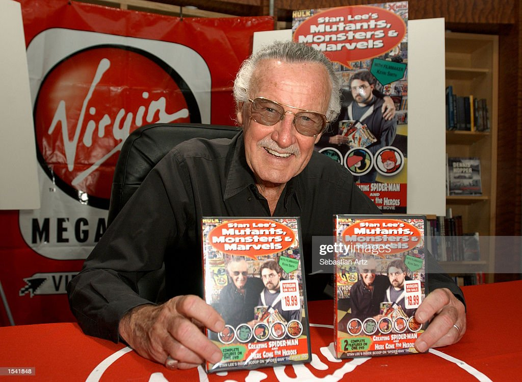 Spider Man Creator Stan Lee Poses With The New Dvd Stan
