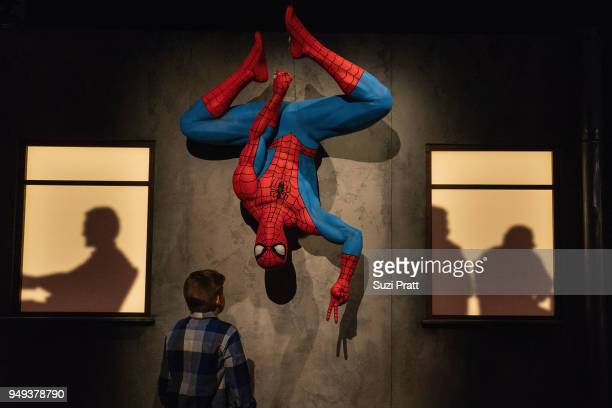 Spiderman exhibit at Museum of Pop Culture on April 20 2018 in Seattle Washington
