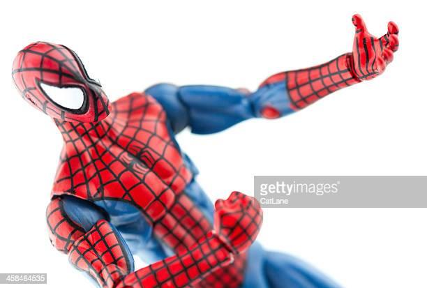 spiderman esprimere a gesti - uomo ragno foto e immagini stock