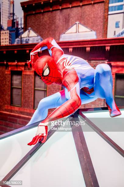 Spider-Man seen during Day 3 of MCM London Comic Con 2018 at ExCel on October 28, 2018 in London, England.