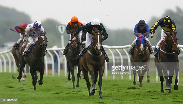 Spiders Star ridden by M H Naughton wins the Best UK Racecourses On TurfTV Selling Stakes run at Catterick Racecourse on August 5 2008 in Richmond...